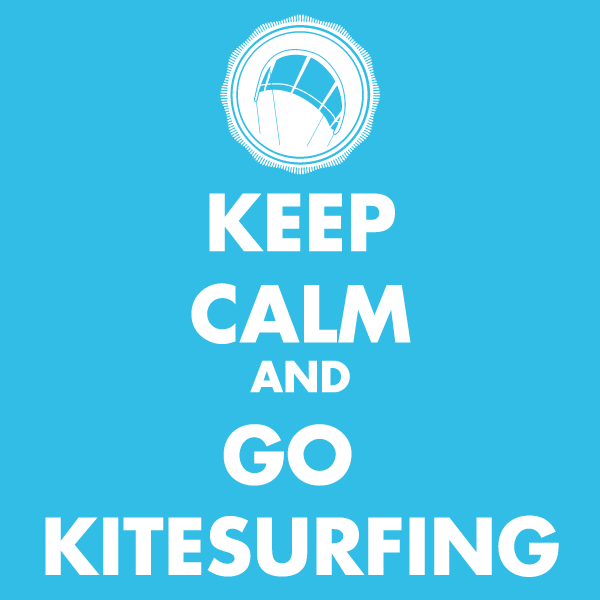 keep calm go kitesurfing