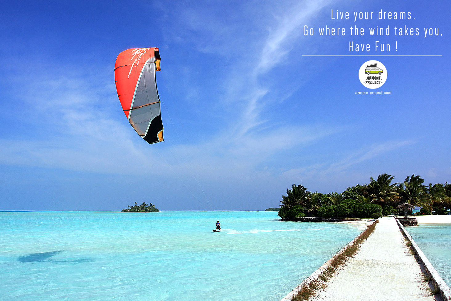 Maldives kiteboarding
