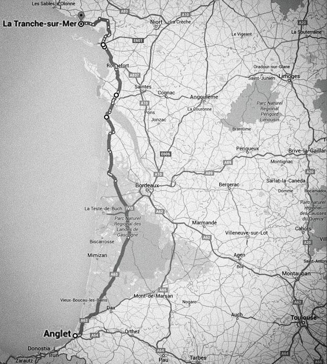 carte-anglet-la_tranche_sur_mer-kite-trip
