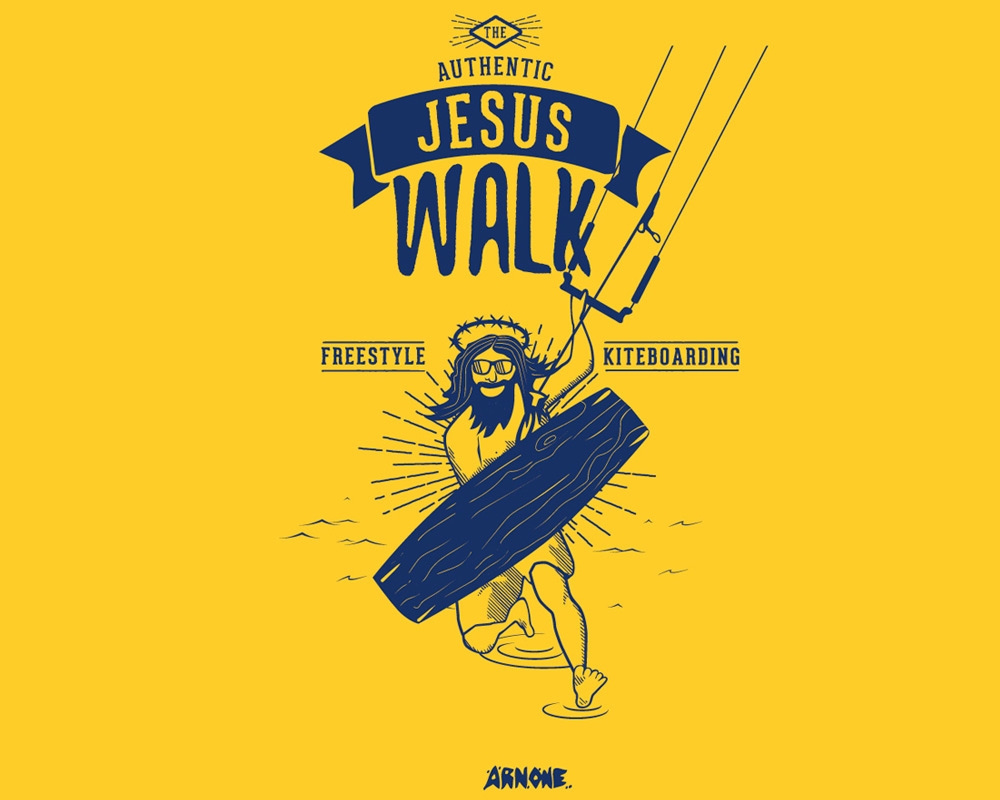 Jesus Walk kitesurf